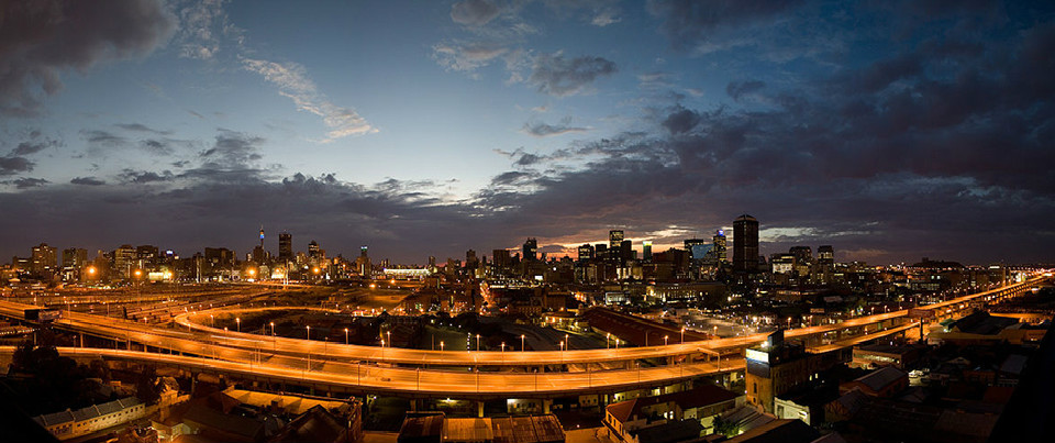 Early morning sunrise over the city of Johannesburg