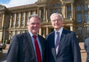 Sir Albert Bore, Leader of Birmingham City Council and the French Ambassador, His Excellency Bernard Emié