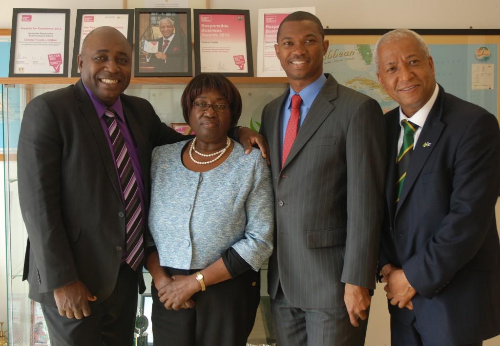 L to R -DCAD Director Lloyd Wilkes , Consular Officer Monica Coke, Minister Hon. Arnaldo Brown, Consul Wade Lyn CBE