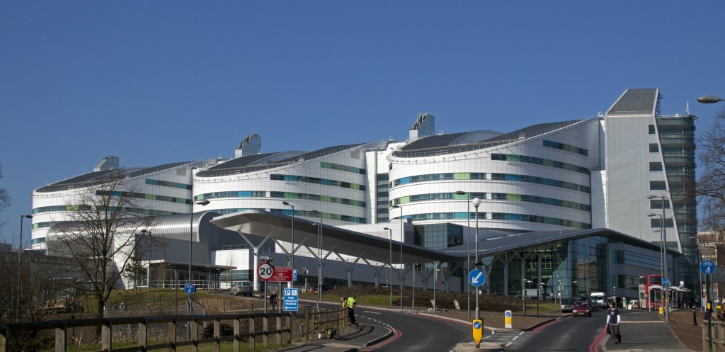 """New Queen Elizabeth Hospital Birmingham""  by  Tony Hisgett  used under  Creative Commons 2.0  / Cropped from original"