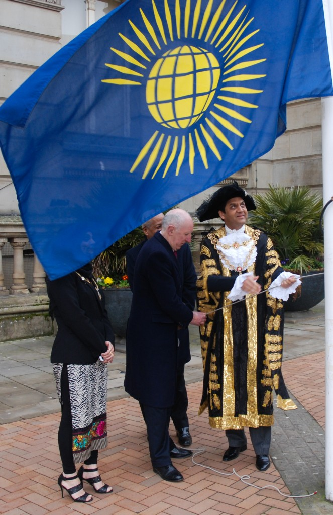 Commonwealth Day 2015 flag up