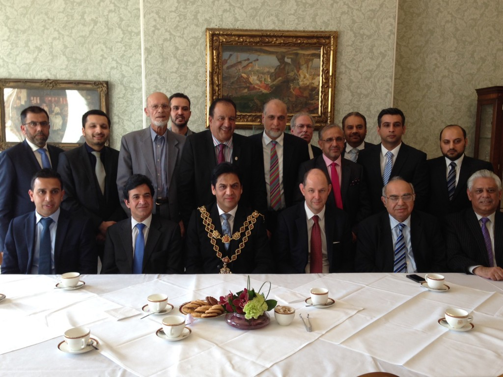 Central in the photo: Lord Mayor of Birmingham and on his left Philip Barton, UK High Commissioner to Pakistan