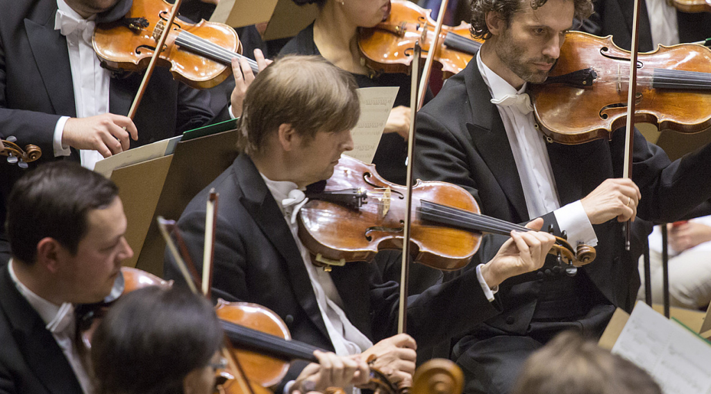 Photo of The Gewandhausorchester Leipzig Ochestra performing as taken from their website