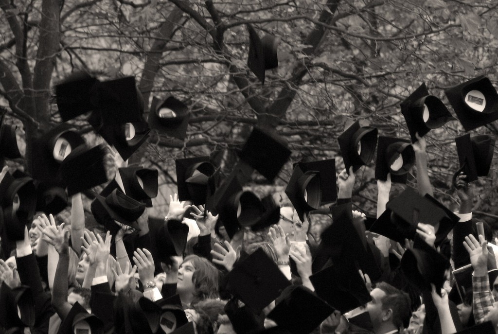 """Congratulations, Graduates!"" by Caro Wallis used under Creative Commons 2.0/ Cropped from Original"