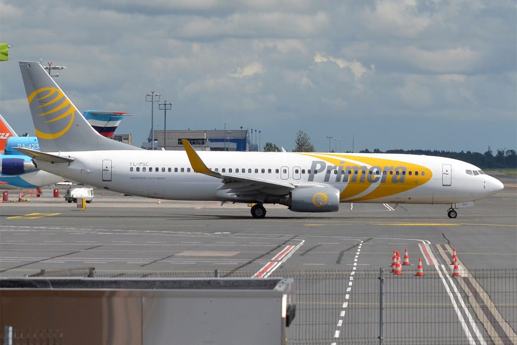 'Primera Air Nordic, YL-PSC, Boeing 737-86N'